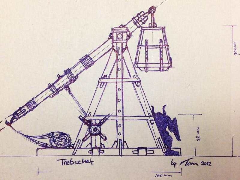 Trebuchet eerste schets
